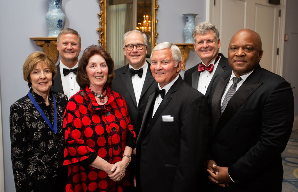 One of ICI's programs is the annual Indiana Academy Dinner. Here, members of The Academy converse.